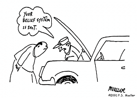 Your belief system is shot.