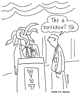 Try a different tie.